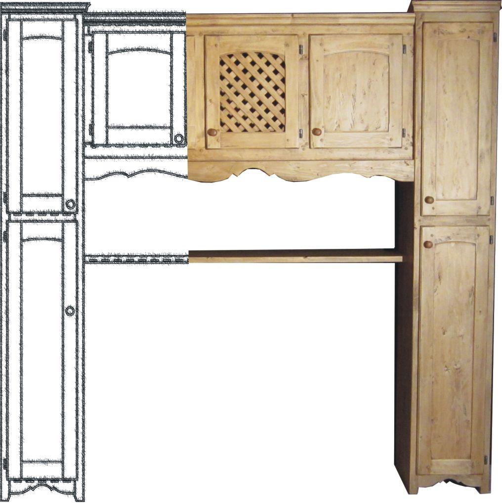 pont de lit les am thystes bois d 39 or e meuble alpin de style savoyard montagne. Black Bedroom Furniture Sets. Home Design Ideas